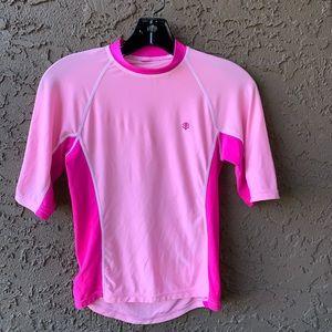 Coolibar Swim Shirt Pink UPF 50+ Size Medium M